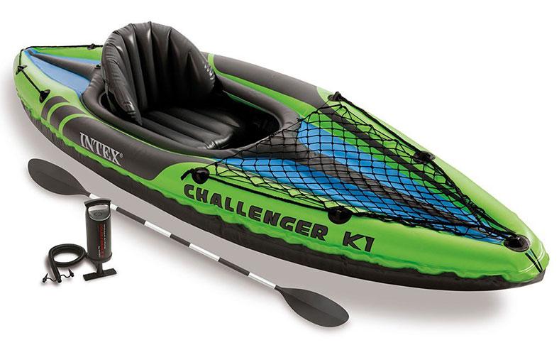 Intex-Challenger-K1-Kayak, 1-Person-Inflatable-Kayak-Set